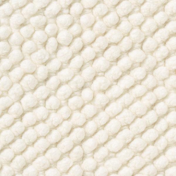 インド綿シェニールバスマット・M/オフ白