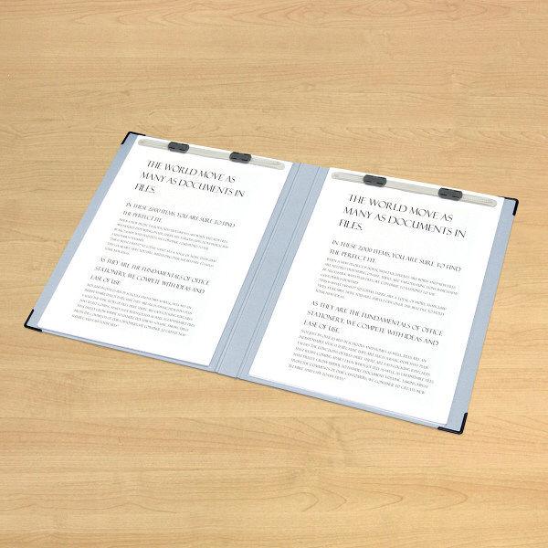 プラス レターファイル A4E 青 FL-003LT BL 1袋(2冊入) (直送品)