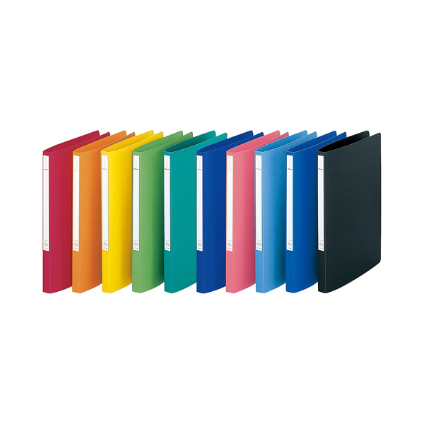 リヒトラブ パンチレスファイル A4S 橙 F347U-4 1袋(3冊入) (直送品)