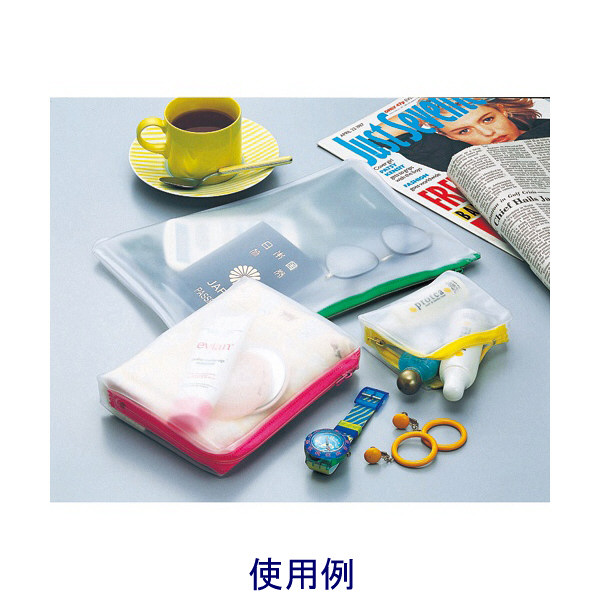 リヒトラブ クリヤーケース・スモーキィ B6S マチ付 黄 F-271キ 1袋(3枚入) (直送品)