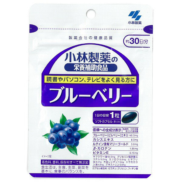 小林製薬ブルーベリー 約30日分 30粒