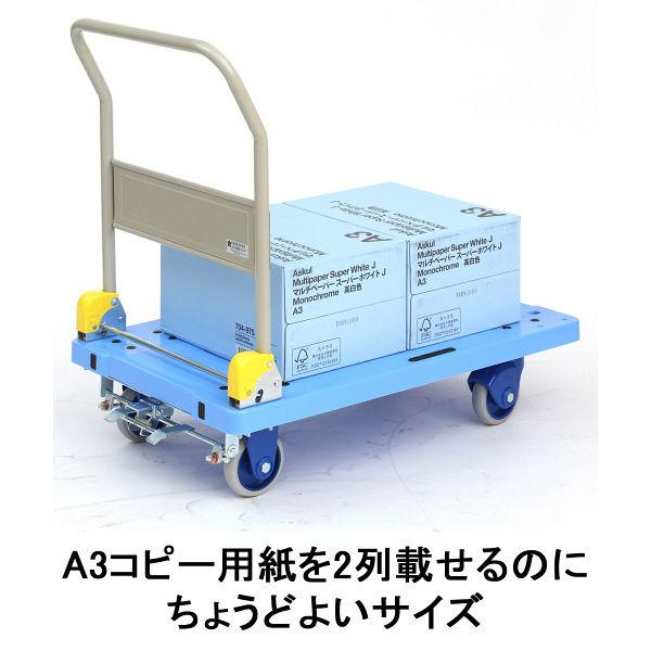 「現場のチカラ」 樹脂台車 静音タイプ(ブレーキ付き) 300kg荷重 金沢車輌