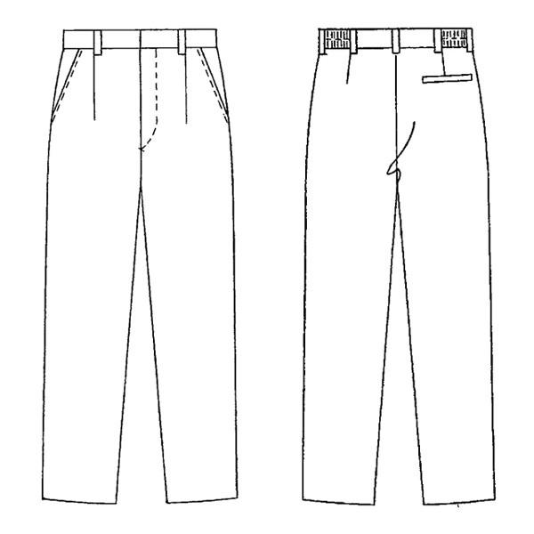 KAZEN 男女兼用スラックス ベージュチノ L AP600-12-L 1本