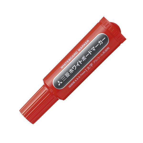 三菱鉛筆(uni) ホワイトボードマーカー 太字丸芯 赤 PWB7M 10本