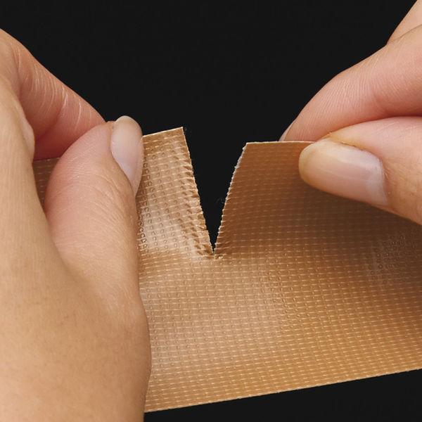 「現場のチカラ」 Monf 手で切りやすい布テープ 0.18mm厚 50mm×25m巻 黄土 1セット(120巻:30巻入×4箱) 古藤工業