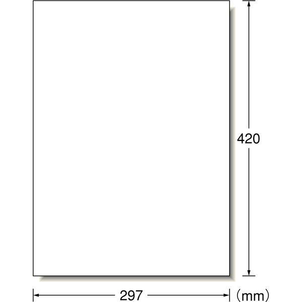 エーワン 屋外でも使えるラベルシール レーザープリンタ 光沢フィルム 白 A3 ノーカット1面 1セット:1袋(5シート入)×5袋 31044(取寄品)
