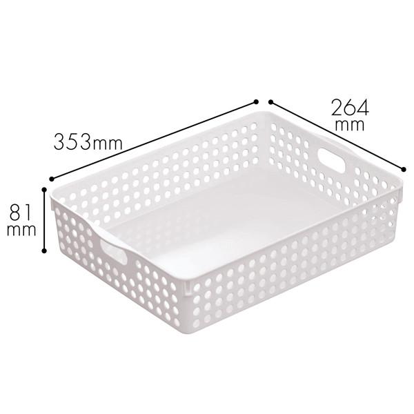 イノマタ化学 ストックバスケット A4 4570 1セット(15個:5個入×3袋)