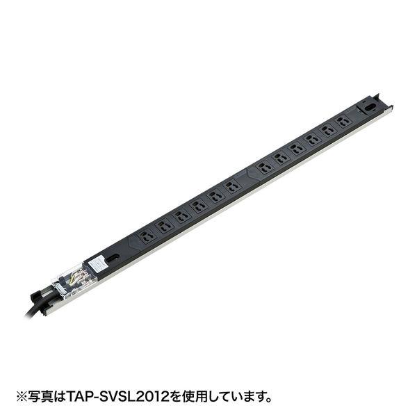 サンワサプライ サーバーラック用コンセント 19インチ用 3P式/24個口/3m/100V・20A/スリムタイプ TAP-SVSL2024 (直送品)