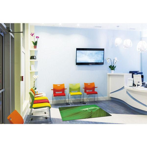 オフィス向けデザインマット リーフドロップ 90 x 120cm AX00021 クリーンテックス・ジャパン (直送品)