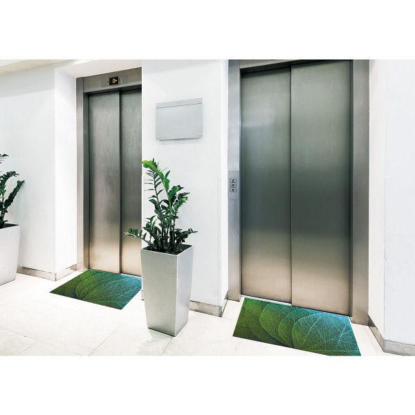 オフィス向けデザインマット グリーンベインズ145 x 200cm AX00026 クリーンテックス・ジャパン (直送品)