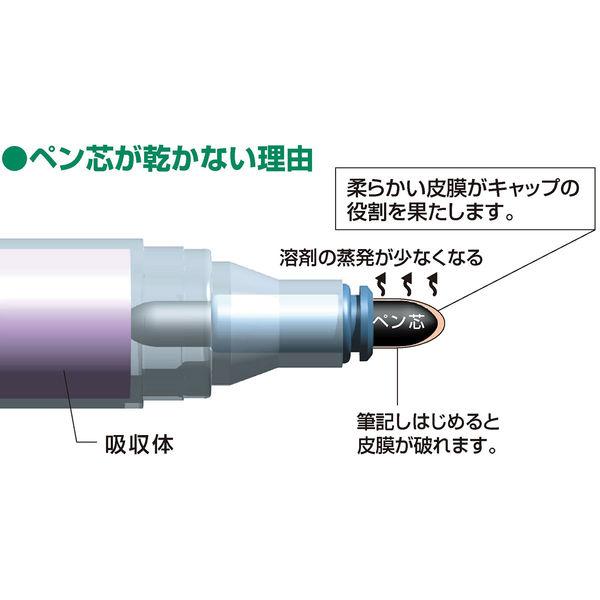 シヤチハタ 乾きまペン 油性マーカー 中字・丸芯 茶色 K-177Nチャイロ(取寄品)