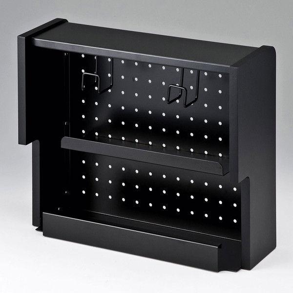 サンワサプライ ケーブル&タップ収納ボックス CB-BOXS5BKN 1個 (直送品)