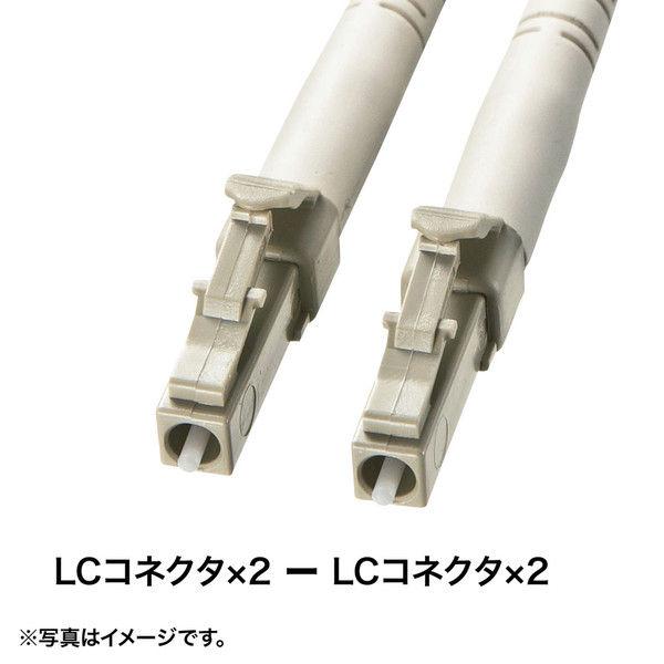 サンワサプライ タクティカル光ファイバケーブル やわらかタイプ 50m ブラック HKB-LCLCTA1-50 (直送品)
