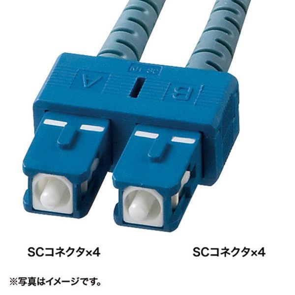 サンワサプライ ロバスト光ファイバケーブル HKB-SCSCRB1-10 1個 (直送品)
