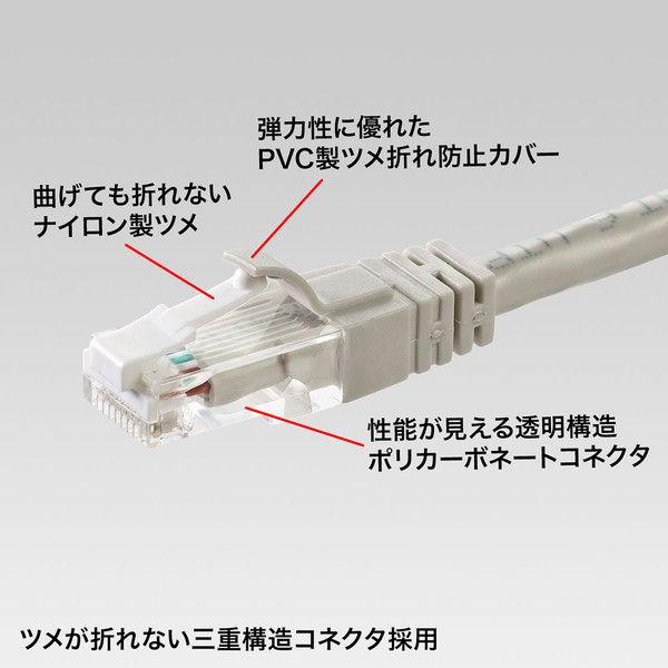 サンワサプライ つめ折れ防止カテゴリ6LANケーブル KB-T6TS-50 1本 (直送品)