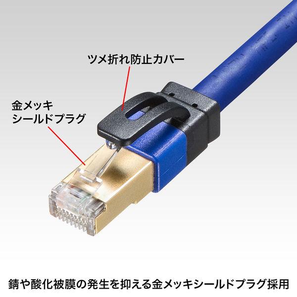 サンワサプライ カテゴリ7A LANケーブル KB-T7A-20BL 1個 (直送品)