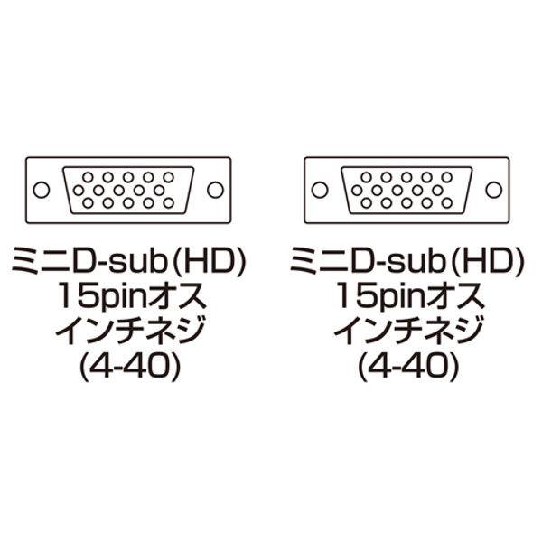 サンワサプライ ナイロンメッシュディスプレイケーブル KC-NMV100K 1本 (直送品)