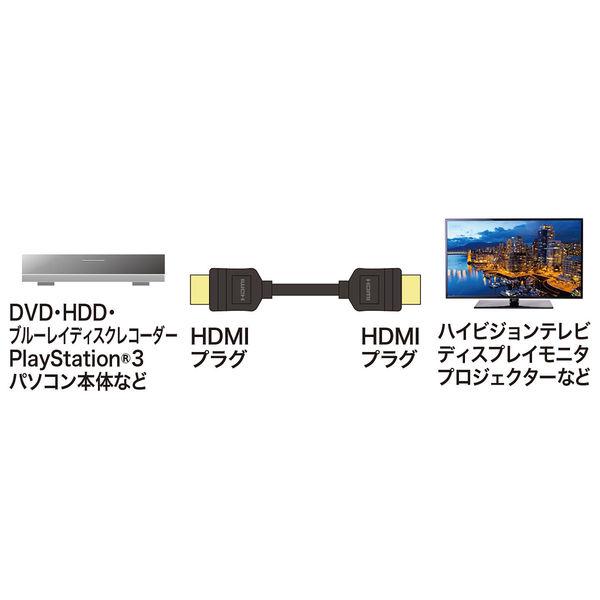 サンワサプライ イーサネット対応ハイスピードHDMIケーブル KM-HD20-10TK2 1本 (直送品)