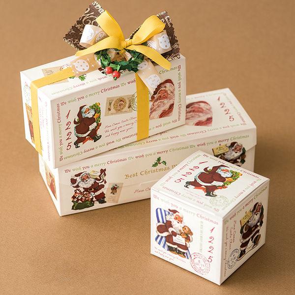 ヘッズ クリスマスアンティークサンタギフトBOXワイド型-S XAQ-GSW 1ケース(20枚×10パック:200枚)(直送品)