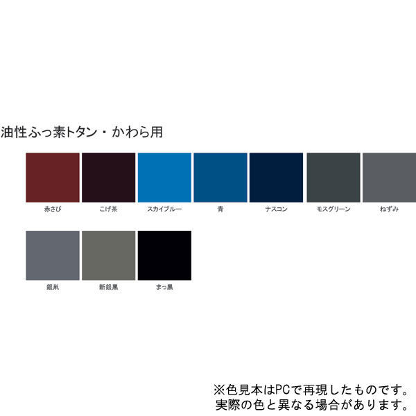 サンデーペイント 油性フッ素トタン・かわら用 ナスコン 14K (直送品)