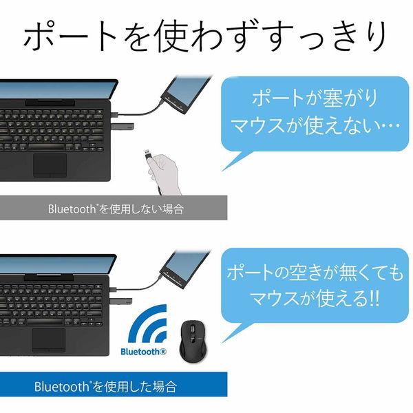 ELECOM BlueLEDマウス/Salalシリーズ/Mサイズ/Bluetooth/3ボタン/ブラック M-BT18BBBK 1個 (直送品)