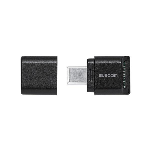 ELECOM メモリリーダライタ/Type-Cコネクタ/直挿しタイプ/microSD専用/ブラック MR3C-C012BK 1個 (直送品)