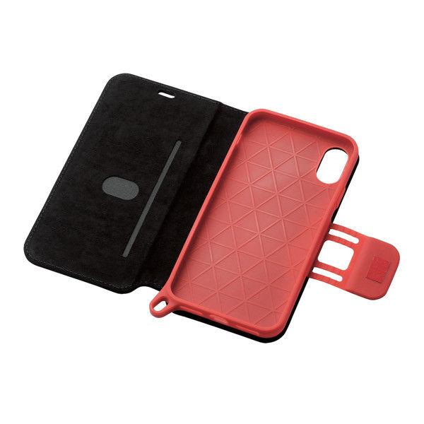 ELECOM iPhoneX/ソフトレザーカバー/スーパープロテックス/ブラック×レッド PM-A17XSPC04 1個 (直送品)