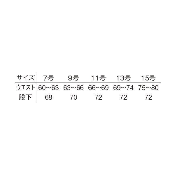 明石スクールユニフォームカンパニー レディーススラックス ブルーグレー 17 UN138-61-17 (直送品)