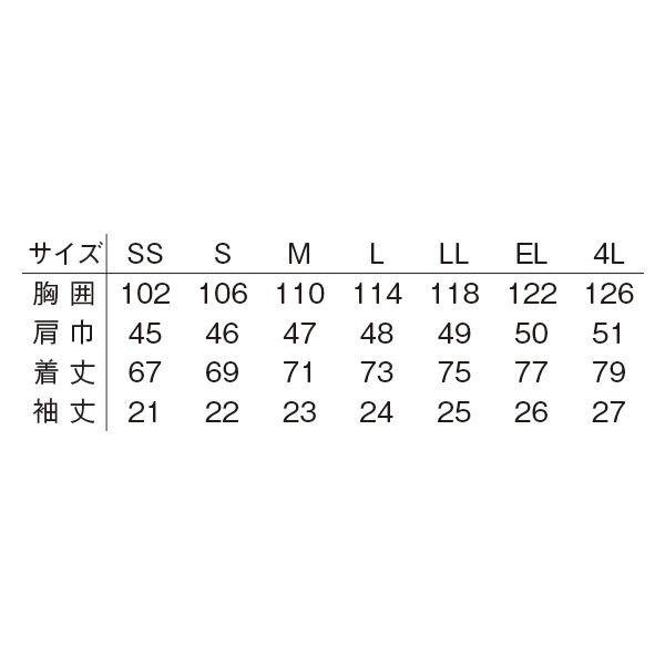 明石スクールユニフォームカンパニー 男女兼用半袖プルオーバーシャツ サックス EL UZQ705A-4-EL (直送品)