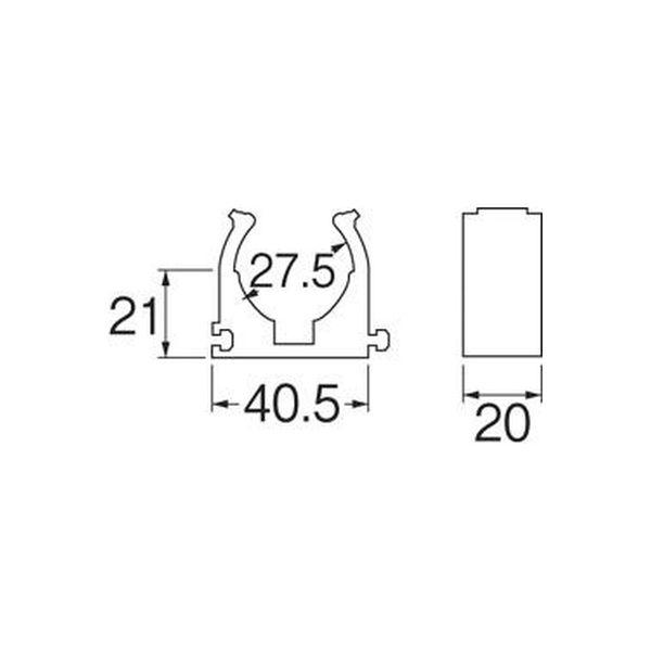 SANEI さや管連結サドル R6502-22 1個(直送品)