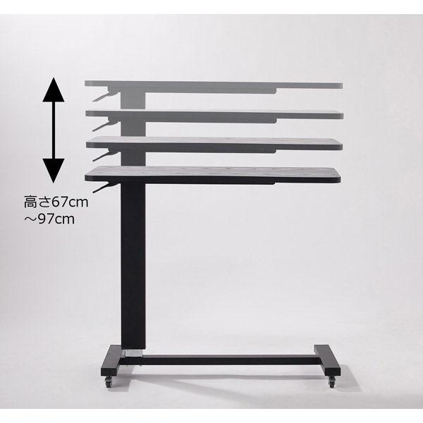 ベストコ 昇降式マルチテーブル スクエア ウッドブラック ND-9171 幅800×奥行400×高さ650~940mm 1台(取寄品)