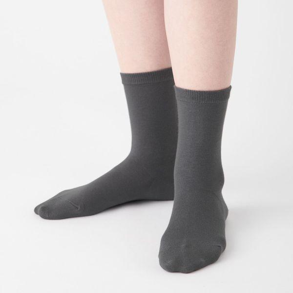 足なり直角 口ゴムなし三層 靴下 婦人
