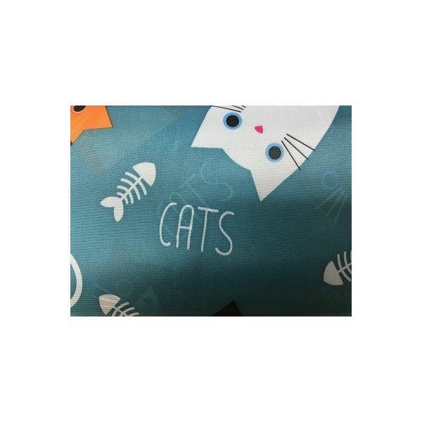 創コミュニケーションズ 大容量エコバッグ(折り畳み式)【E】猫ちゃん(ごちそう様柄) HJM-100565(直送品)
