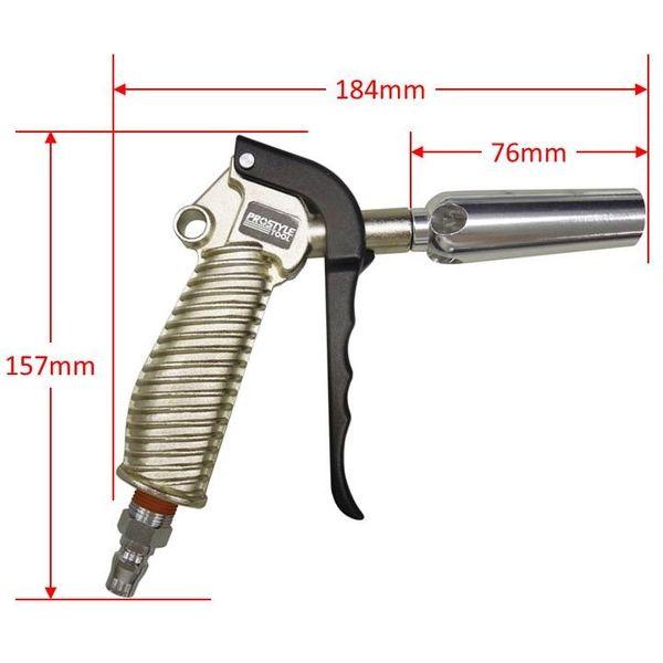 【エアーツール】フローバル プロスタイルツール(PROSTYLE TOOL) アルミ製エアーダスターガン 風量増加ノズル型 ABG-07 1個(直送品)