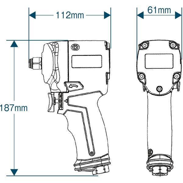【エアーツール】フローバル プロスタイルツール(PROSTYLE TOOL) エアーインパクトレンチ ジャンボハンマー PI-746J 1個(直送品)