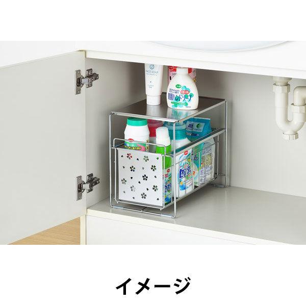 洗面台下フリーラック1段 桜
