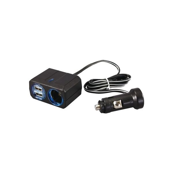 YAC リングライトソケット+2口USB 4.8A PZ-709(直送品)