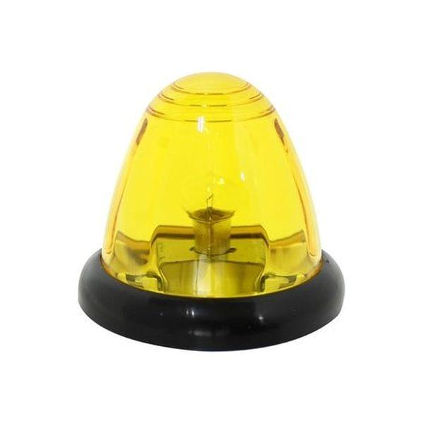 YAC 槌屋ヤック 電球光源マーカーランプ Pトップマーカーランプ DC24V 6W耐震球付き イエロー Y-45061(直送品)