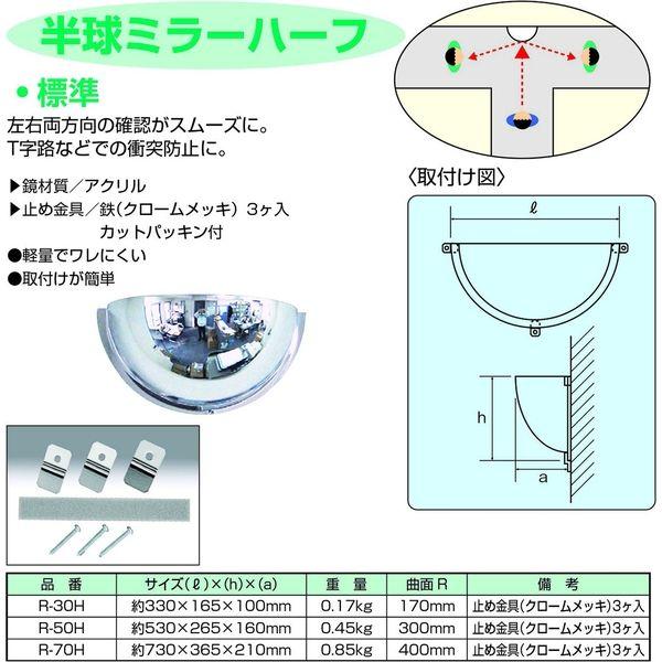 信栄物産 半球ミラー ハーフ φ730×H250mm R-70H(直送品)