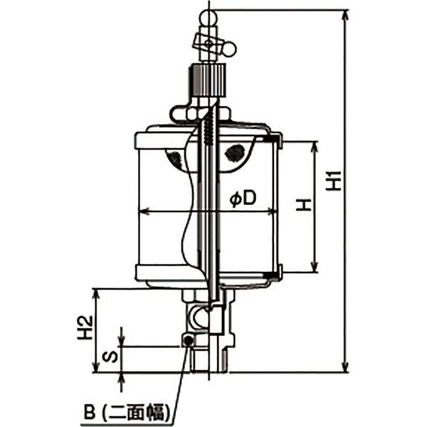 プロスタイルツール(PROSTYLE TOOL) アクリルオイラー 1/4x50 NAO-02050 1個(直送品)