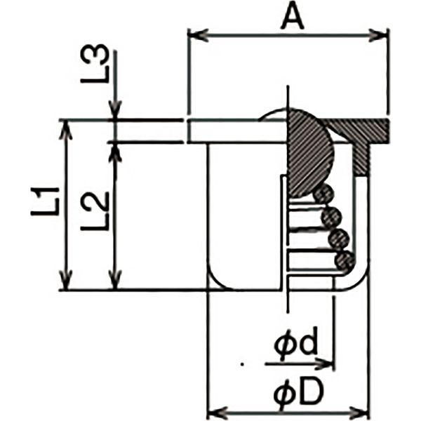 プロスタイルツール(PROSTYLE TOOL) 玉入れオイルカップ 5/16 NBC-25 1箱(100個入)(直送品)