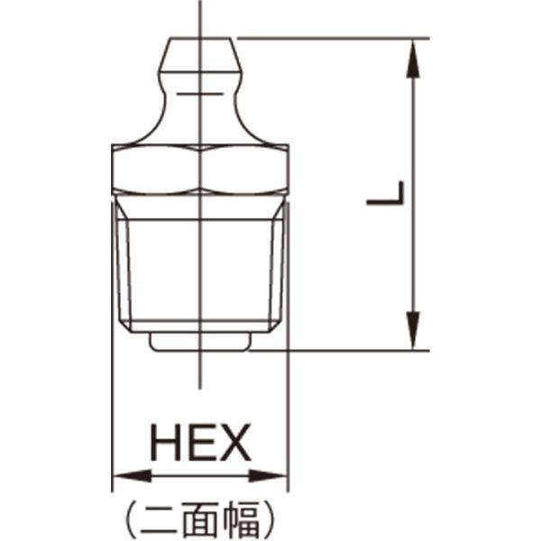 プロスタイルツール(PROSTYLE TOOL) 鉄グリースニップル A型 M6xP1.0 NGA-610T 1箱(100個入)(直送品)