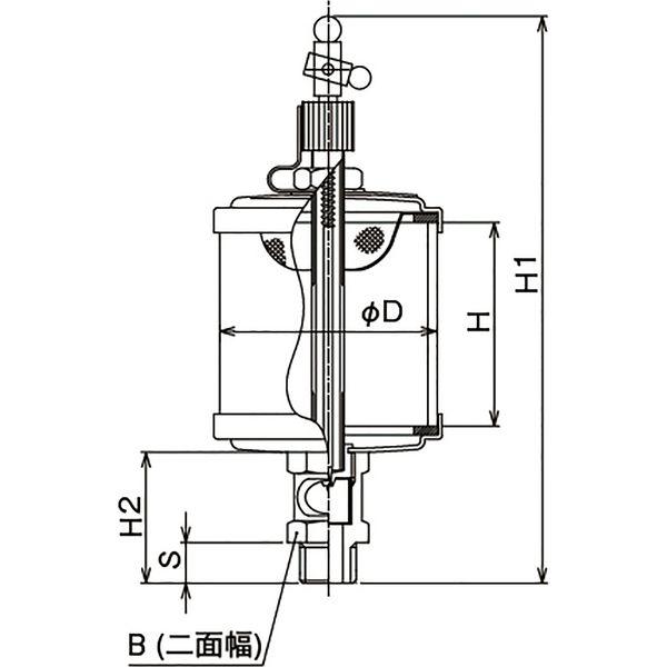 プロスタイルツール(PROSTYLE TOOL) ガラスオイラー 3/8x100 NGO-03100 1個(直送品)