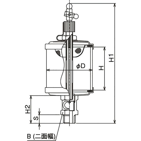 プロスタイルツール(PROSTYLE TOOL) ガラスオイラー 1/2x100 NGO-04100 1個(直送品)