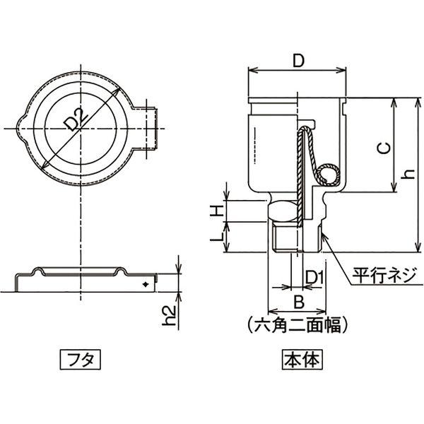 プロスタイルツール(PROSTYLE TOOL) メッキ付オイルカップ 1/4x32 NOC-0232 1個(直送品)