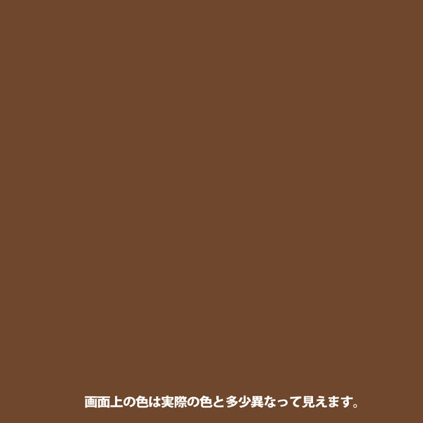 1回塗りハウスペイント ココアブラウン 1L #00027641021010 カンペハピオ(直送品)