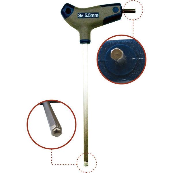 フローバル プロスタイルツール(PROSTYLE TOOL) T型ボールポイント六角棒レンチ 5 09977-5×150 1個(直送品)