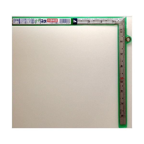 シンワ測定 曲尺同厚 シルバー 表裏同目 名作 1尺6寸/呼寸52cm 10646 1本 (取寄品)