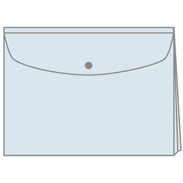 プラス エンベロープ マチ付横 FL121CH 青 10枚 (直送品)
