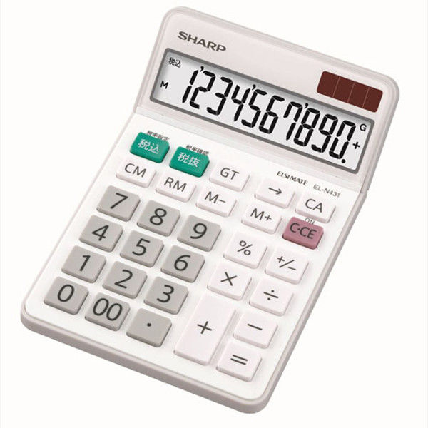 シャープ 電卓 10桁 EL-N431X (直送品)